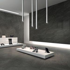 Phối cảnh gạch lát nền Indonesia Niro Granite 60x60 GIP04
