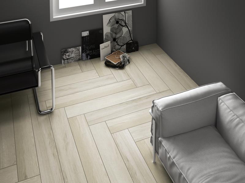 gạch giả gỗ lát phòng ngủ