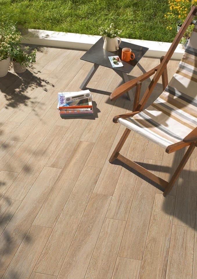 gạch gỗ ngoài trời