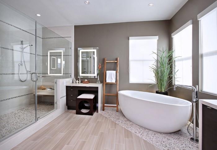 gạch vân gỗ ốp phòng tắm