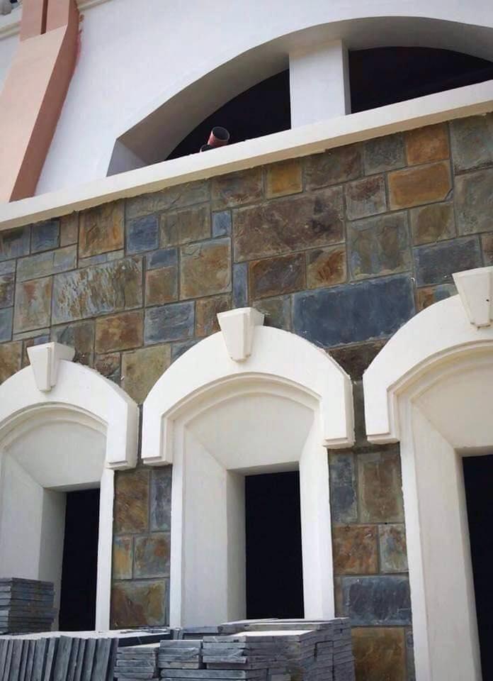 đá đa sắc lai châu ốp tường