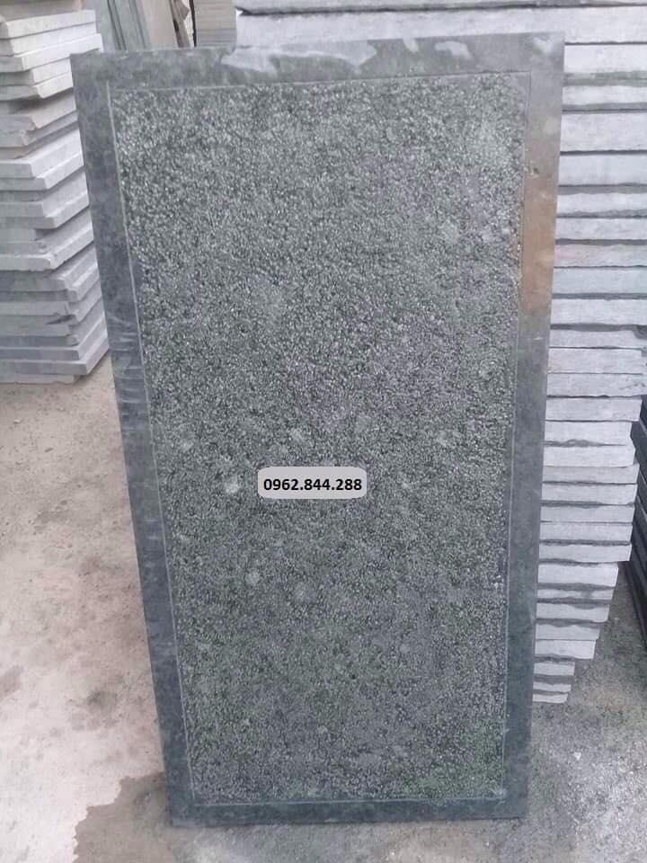 Đá xanh rêu băm mặt trừ viền